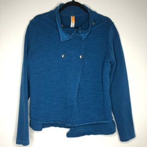 Lucy Double Layered Teal Blue Athletic Jacket L